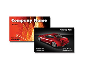 "BUSINESS CARDS: 3.5"" X 4"" 14PT Fold Over Business Card UV on 4-color side(s) Scoring Included"